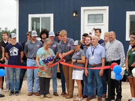 Kingwood Park High School Completes Third Tiny Home